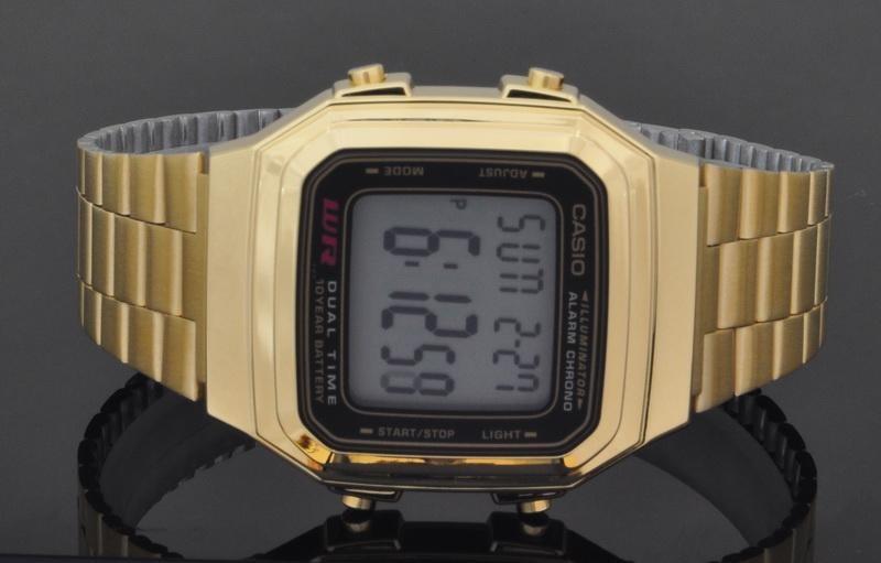 f0ac4942452 relógio casio vintage a178wga-1adf dourado digital original. Carregando zoom .