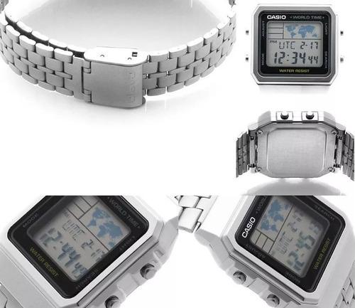 relógio casio vintage a500 na caixa digital unissex