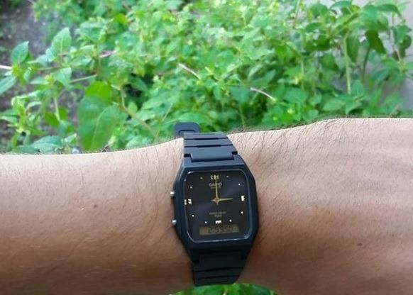 3e6e96676af Relógio Casio Vintage Aw-48he-1avdf Preto Dourado Original - R  159 ...