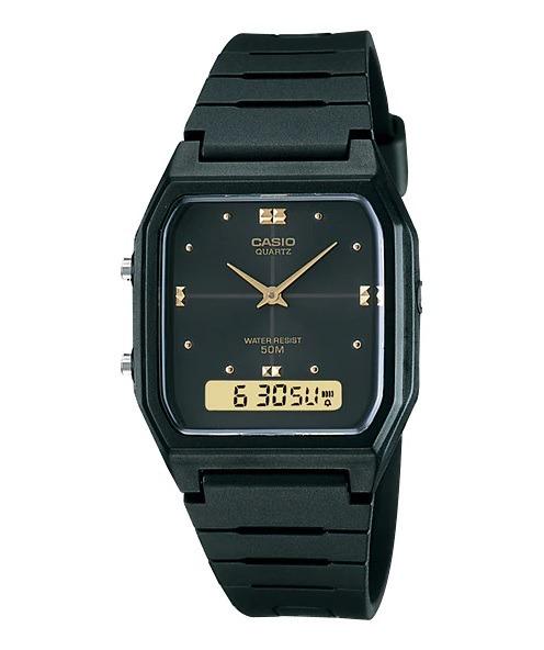 596c4057819 Relógio Casio Vintage Aw-48he-1avdf Preto Dourado Original - R  159 ...