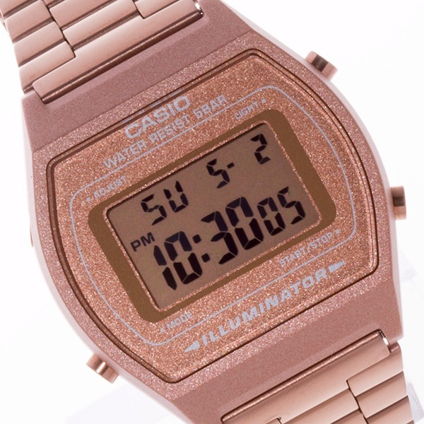 77ba79b1b16 Relógio Casio Vintage B640 Rose Cobre Alerta Piscante Timer - R  265 ...