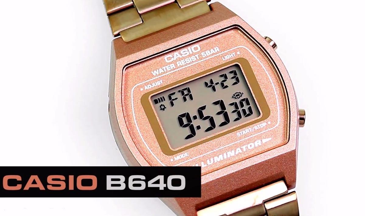 3d5ac3354c8 relógio casio vintage b640 rose cobre alerta piscante timer. Carregando  zoom.