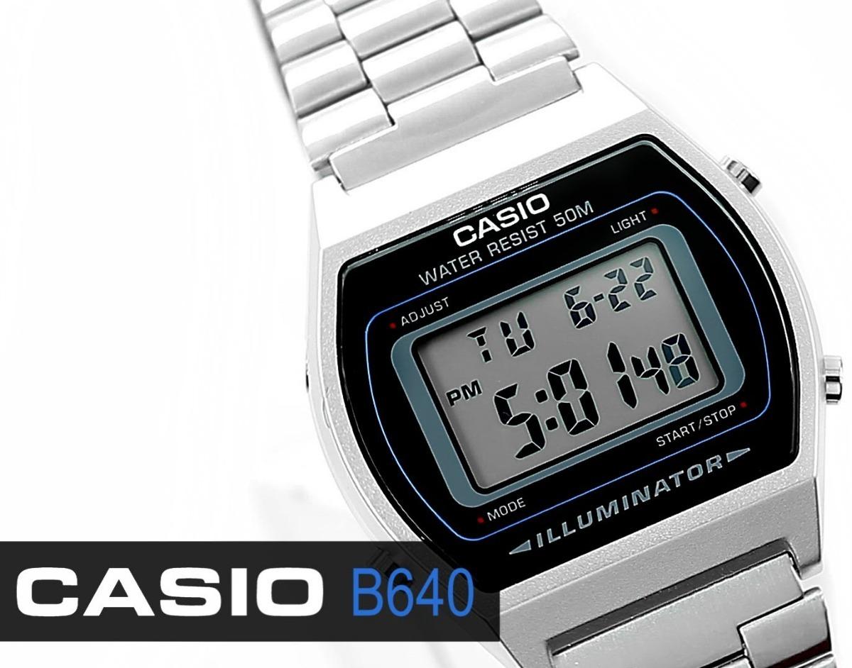 5c831f69f Relogio Casio Vintage B640wd Retrô Prata Na Caixa Oferta. - R  89