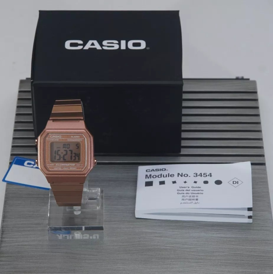 d51f9dfbfdc Relógio Casio Vintage B650wc-5adf Unissex Rose Rosa Original - R ...