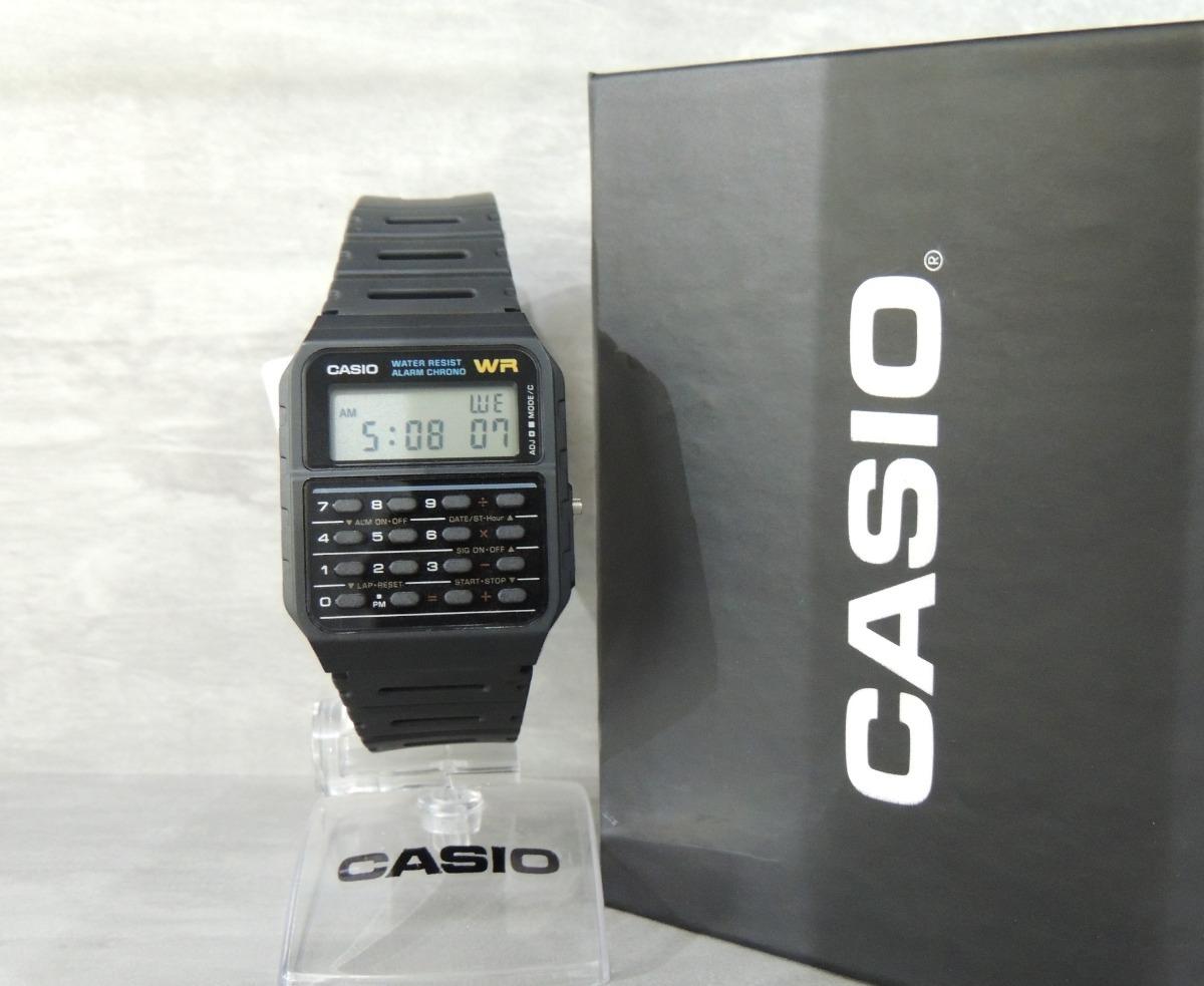 e35fefdfead relógio casio vintage calculadora masculino ca-53w-z - nf. Carregando zoom.