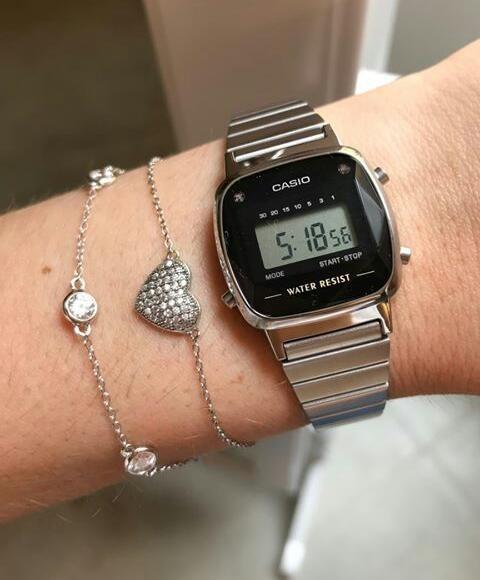 f3cfe49d433 Relógio Casio Vintage Diamonds Mini La670wad 1df Original Nf - R ...