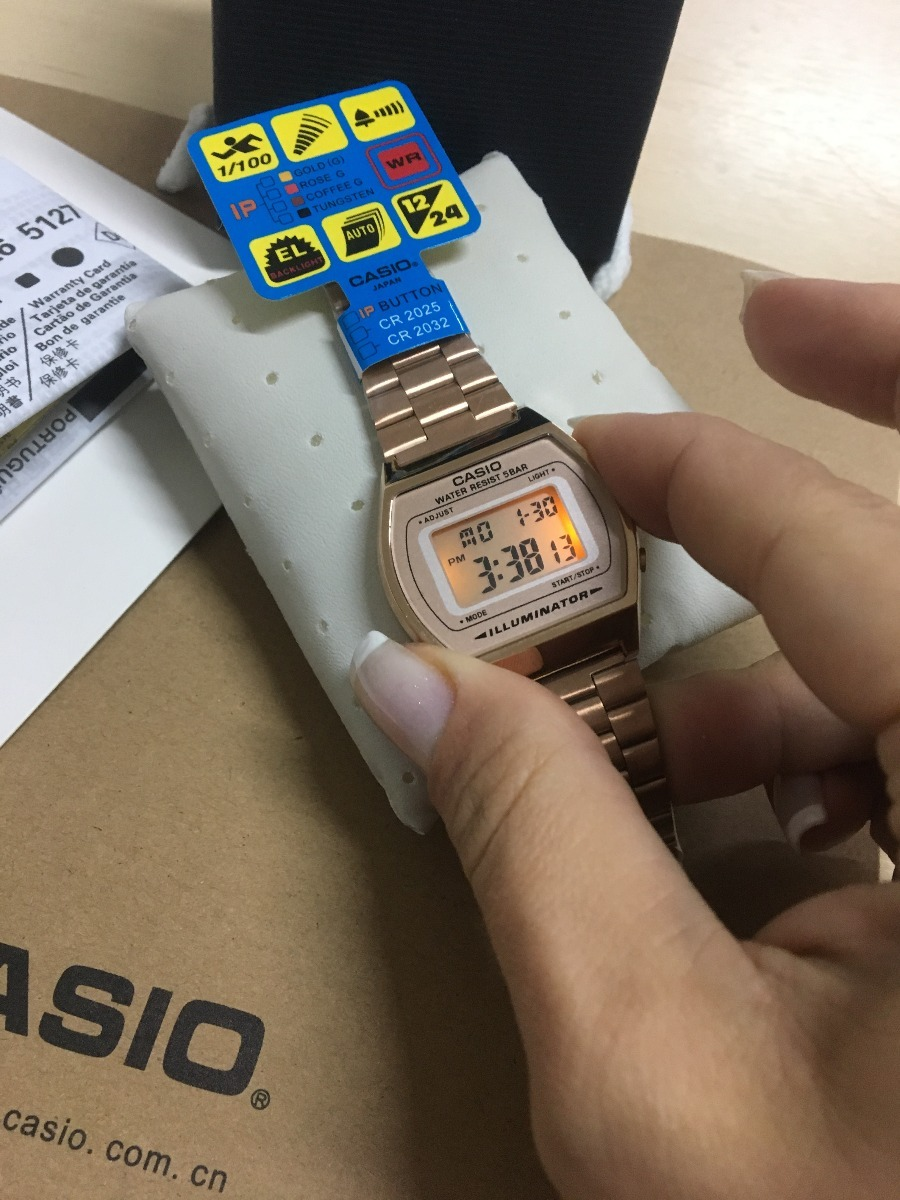0f21f58a489 relógio casio vintage digital b640wb-1adf rose. Carregando zoom.