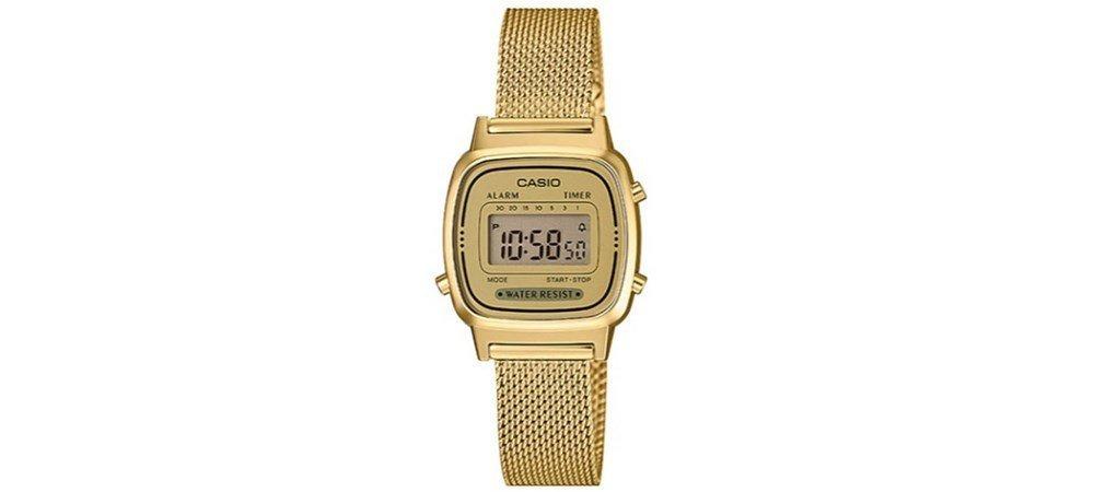 c4834ba9d3b0 relógio casio vintage digital la670wemy-9df dourado. Carregando zoom.