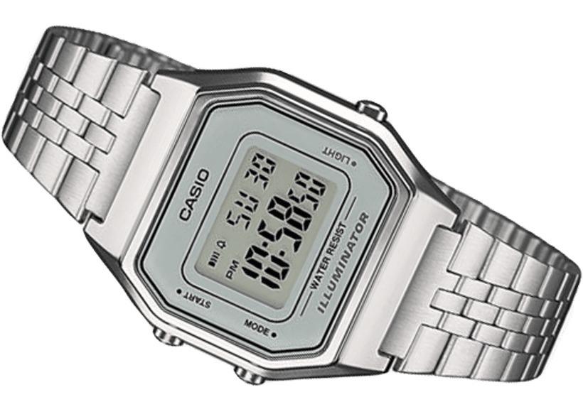1a92980358c relógio casio vintage digital prata la680wa. Carregando zoom.