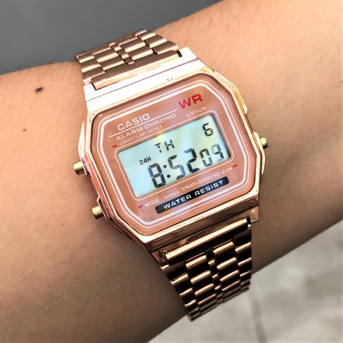 28fd43161a5 relogio casio vintage digital rose - pre390. Carregando zoom.