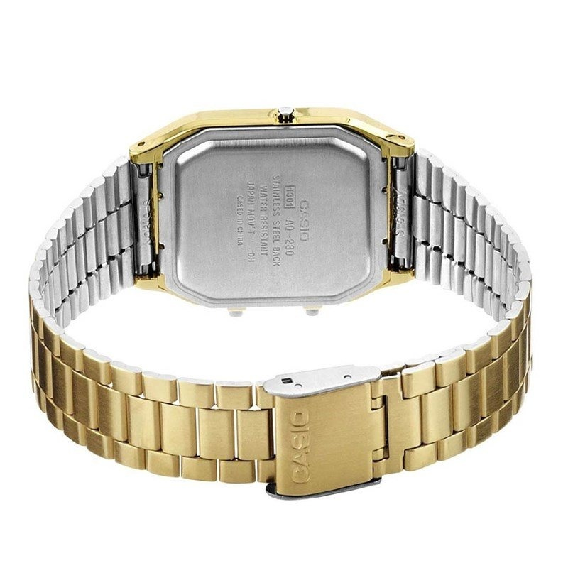 b5527468466 relógio casio vintage dourado aq-230ga-9bmq. Carregando zoom.