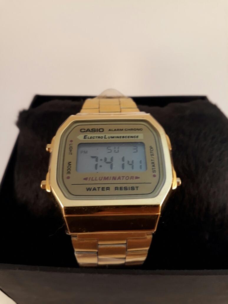 6c73bf87647 relógio casio vintage dourado digital prova dágua original. Carregando zoom.