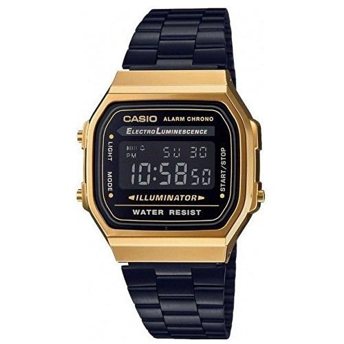 bda036a8146 Relógio Casio Vintage Dourado E Preto 3298 A168we Unissex - R  289 ...