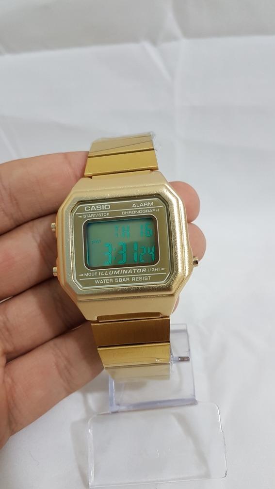 e925ec4296e relógio casio vintage dourado modelo grande 12x sem. Carregando zoom.