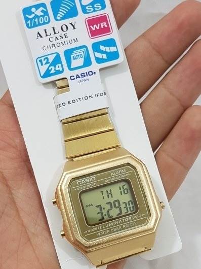 658236e6766 Relógio Casio Vintage Dourado Modelo Grande 12x Sem - R  149