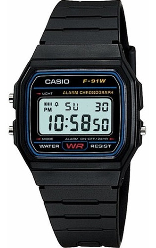 relógio casio vintage  - f-91w-1dg - chronograph - digital