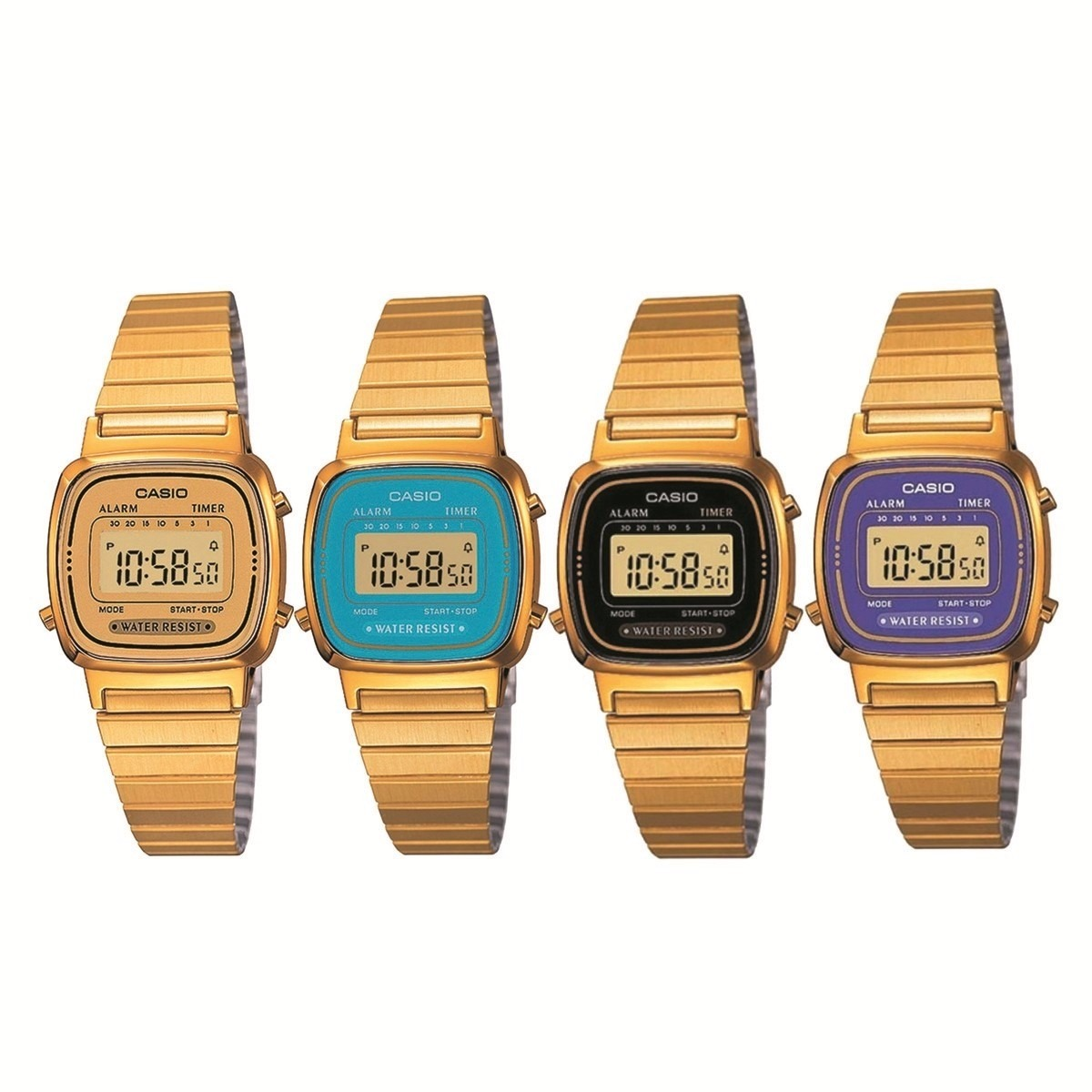 relógio casio vintage feminino dourado digital div cores. Carregando zoom. d3ab2f8f66