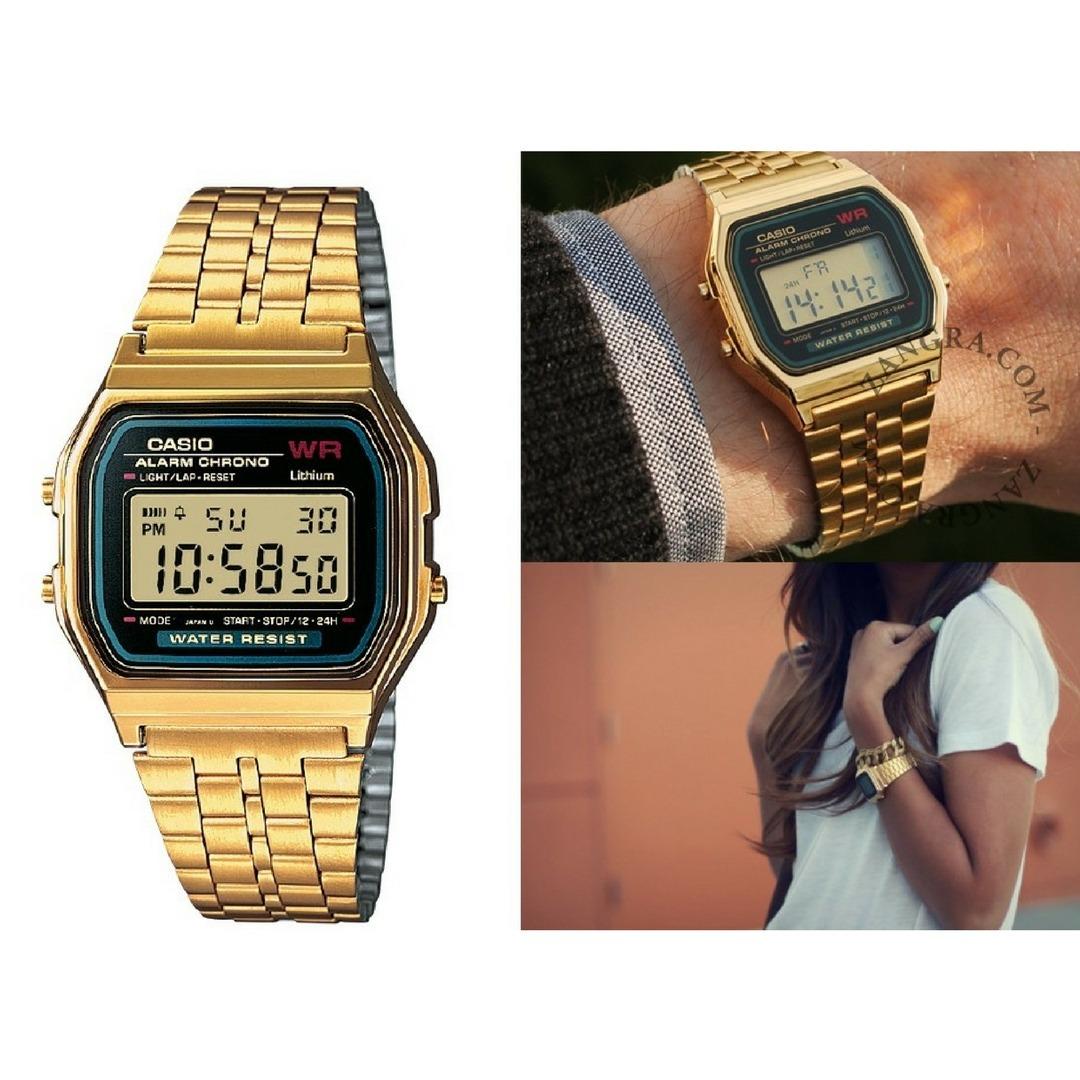 b0df4cafea0 relógio casio vintage feminino dourado digital original. Carregando zoom.