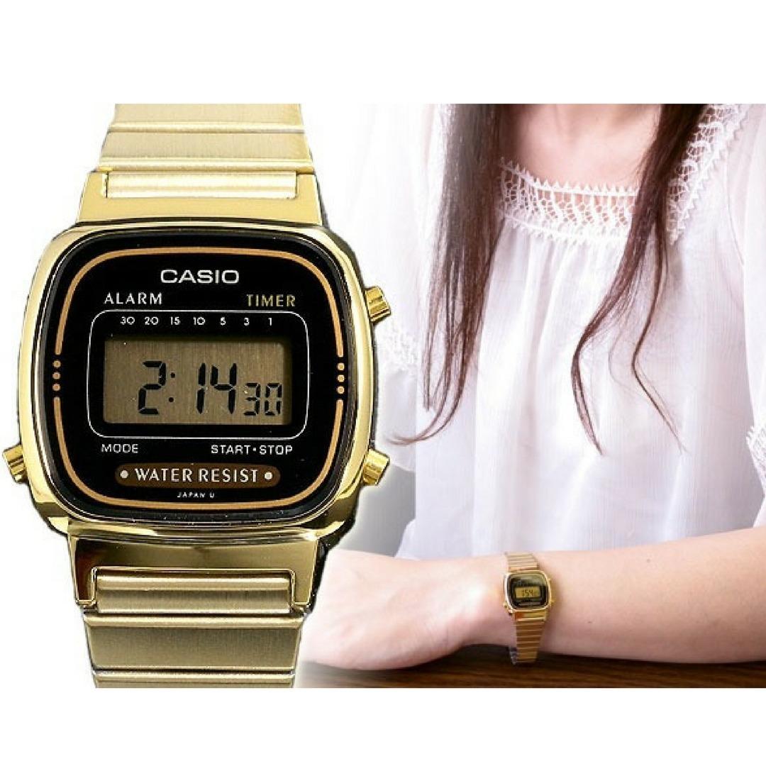 f27795863 relógio casio vintage feminino dourado digital original. Carregando zoom.