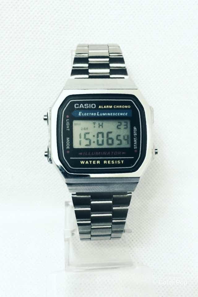 a84a341e53e1a relógio casio vintage feminino prata digital. Carregando zoom.