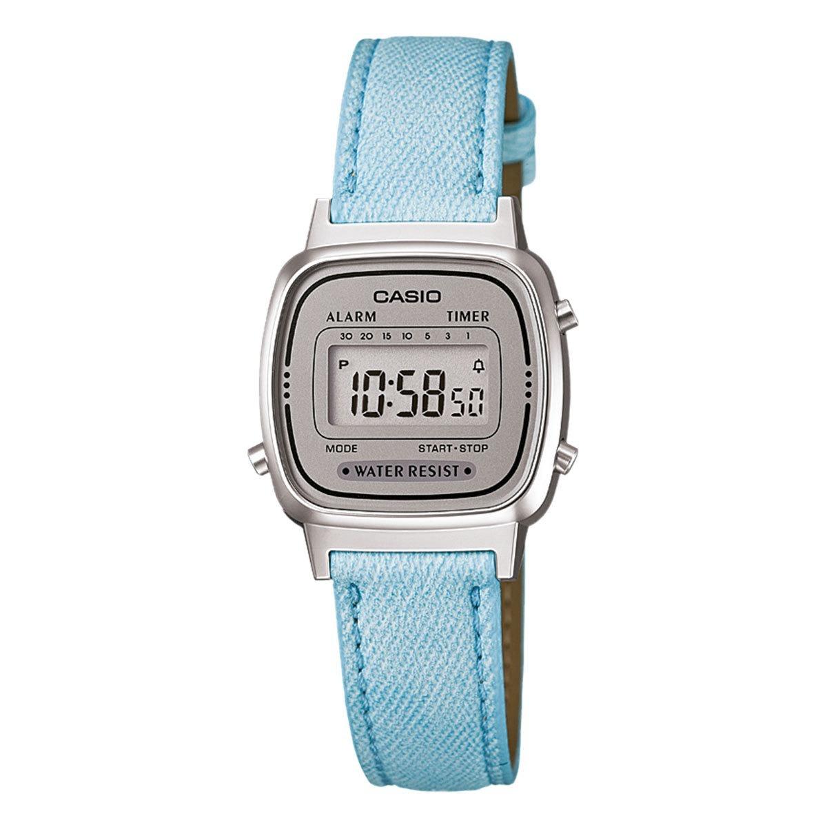 20ba06b213f relógio casio vintage la670w azul claro. Carregando zoom.