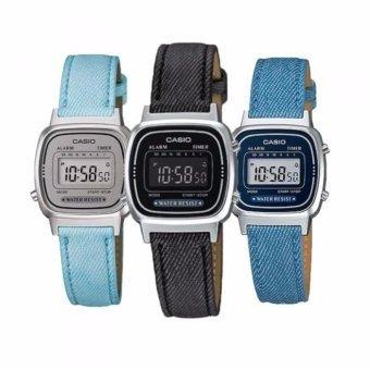 8a261c2ea92 Relógio Casio Vintage La670w Azul Claro - R  140
