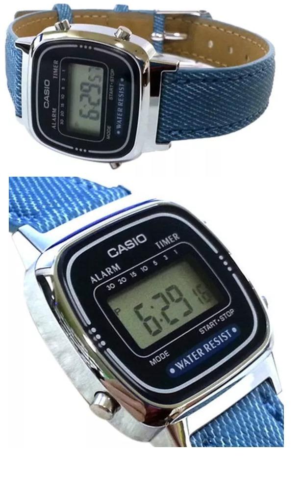 2bd25e3f8bc relógio casio vintage la670w azul escuro. Carregando zoom.