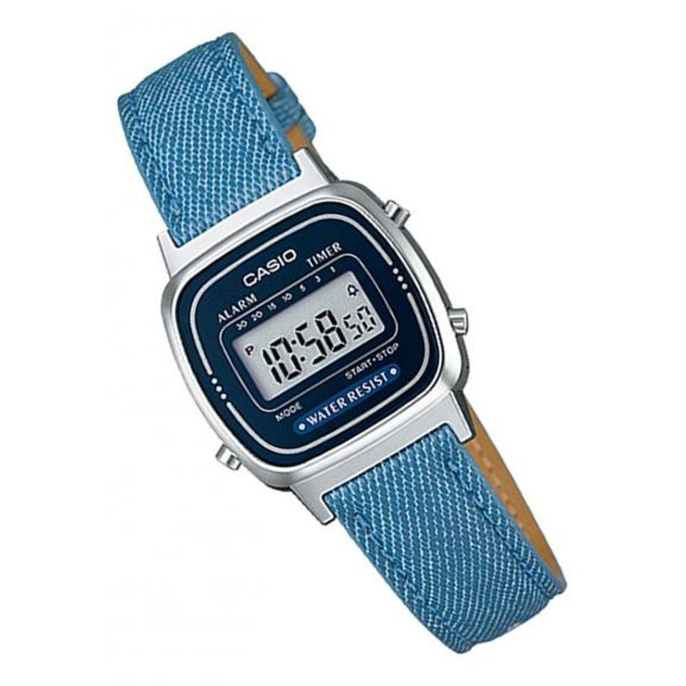 6e0b3acdb48 relógio casio vintage la670w azul escuro. Carregando zoom.
