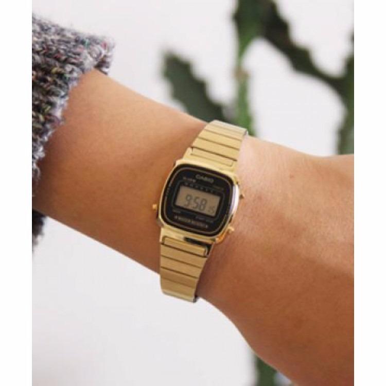 891eb3a69c9 Relógio Casio Vintage La670wga1df Dourado Minimalista Pequen - R ...