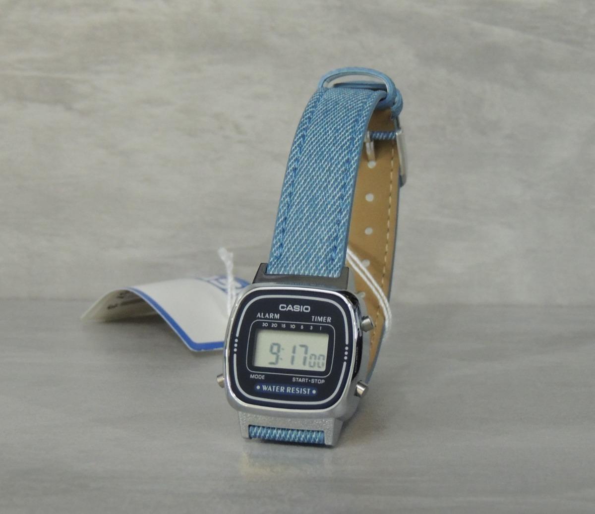 2eab71b7ca3 relógio casio vintage mini jeans la670wl-2a2df (nf garantia). Carregando  zoom.