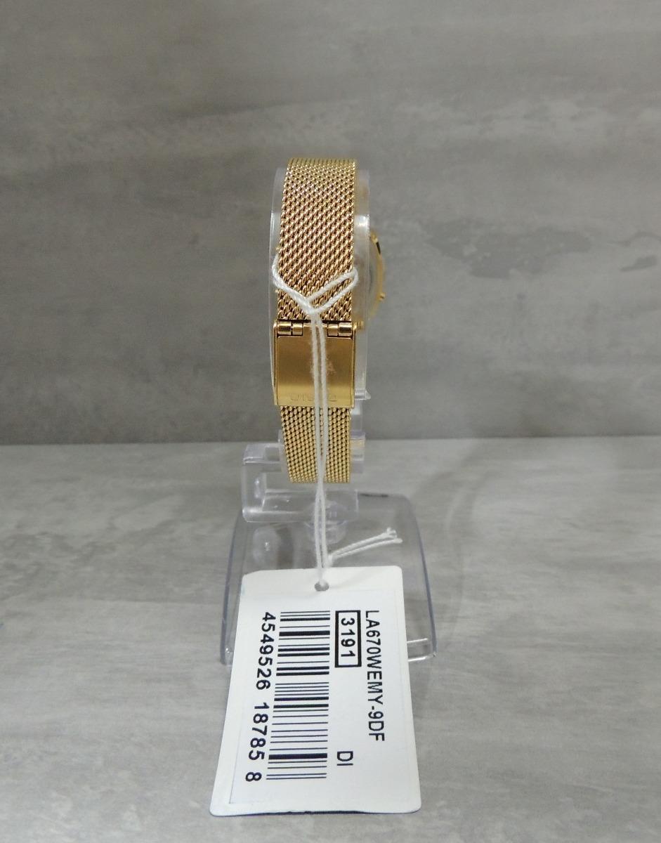 76a70229856 Relógio Casio Vintage Mini - La670wemy-9df - Lançamento Nf - R  308 ...
