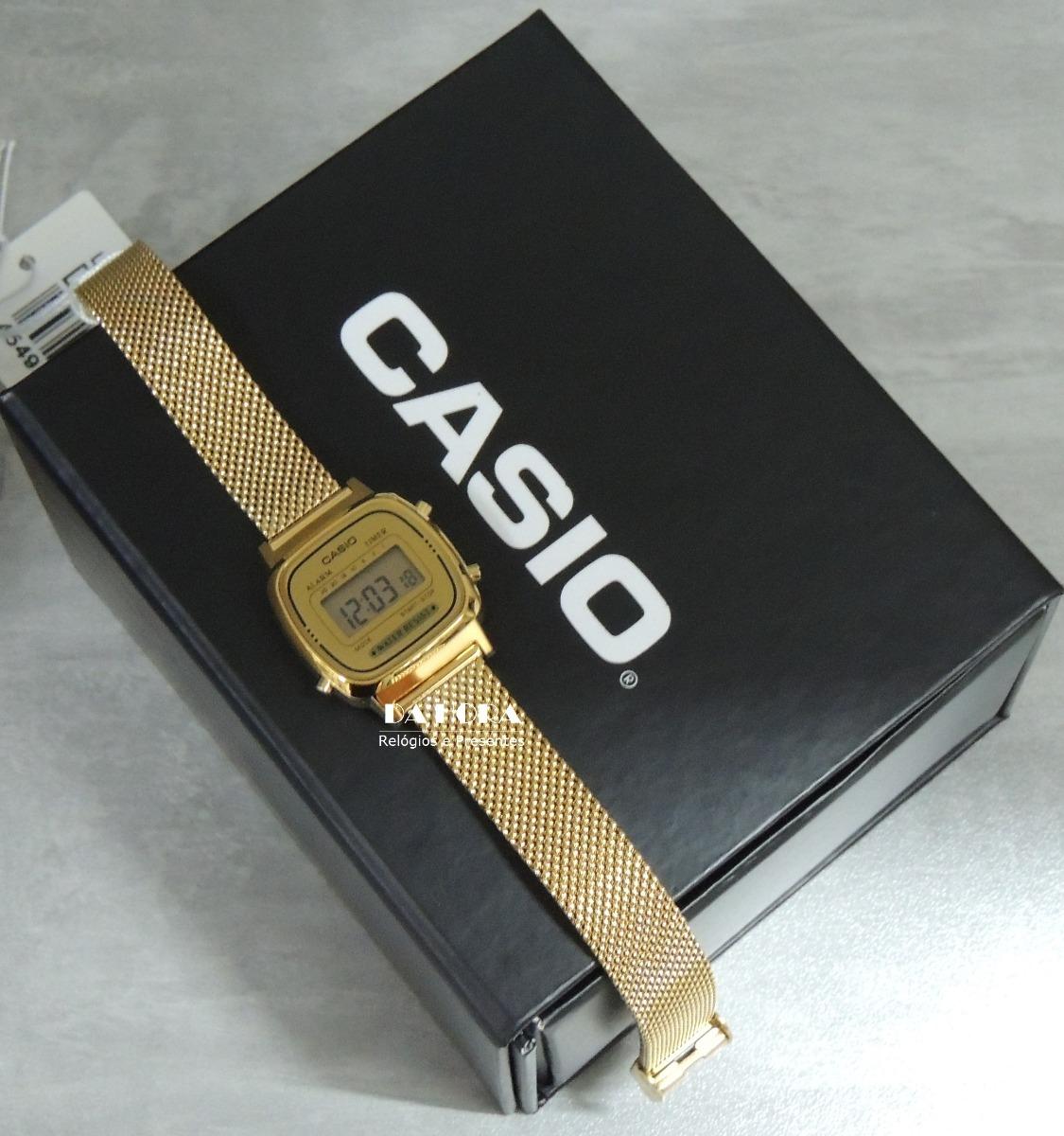 02627a0d19a relógio casio vintage mini - la670wemy-9df - lançamento nf. Carregando zoom.