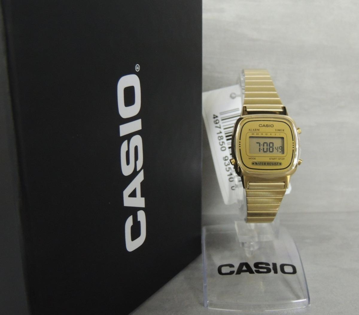 7c2d11681e8 relógio casio vintage mini la670wga-9df - nf e garantia. Carregando zoom.