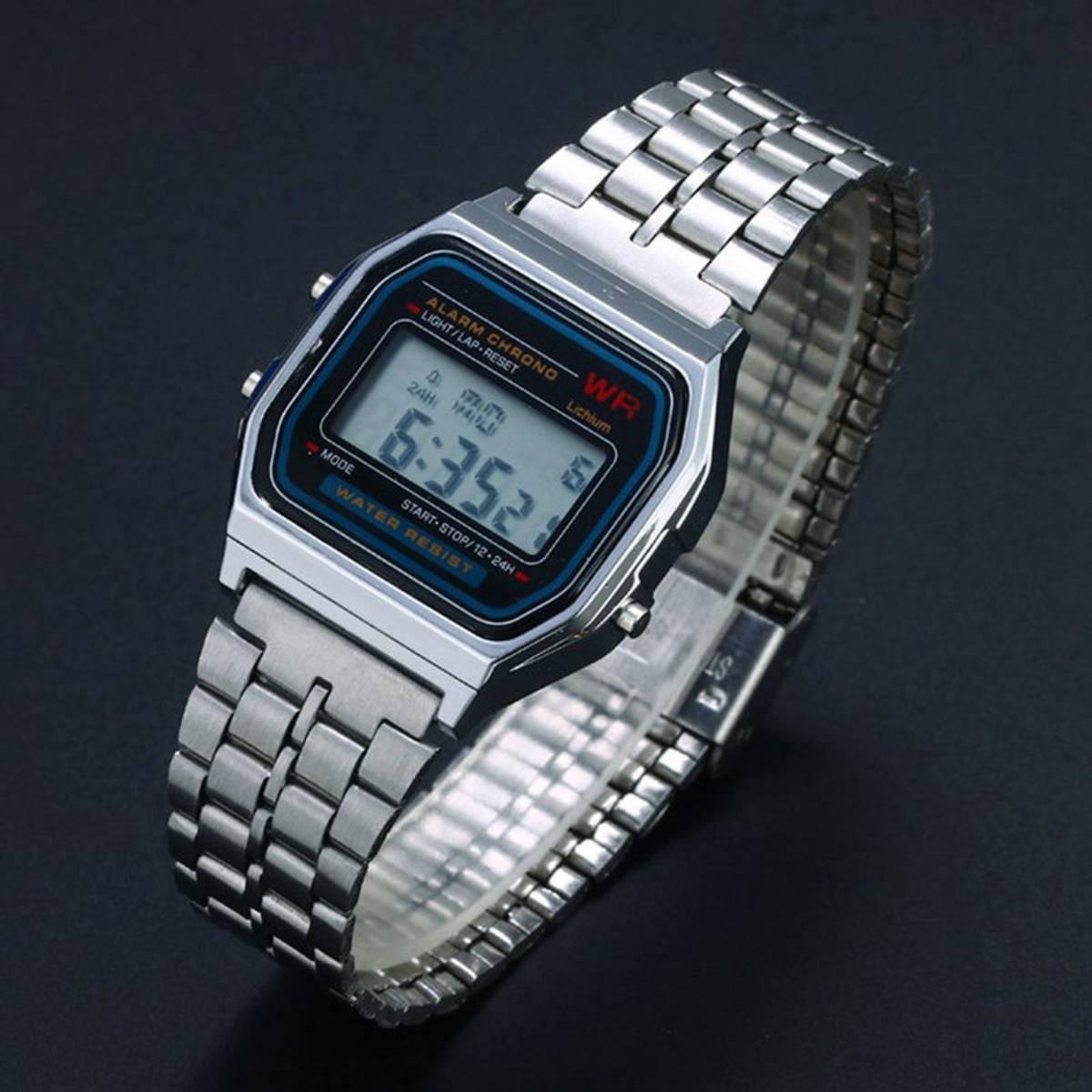 ce6824073f6 relógio casio vintage modelo retro pulseira de aço 3 cores. Carregando zoom.
