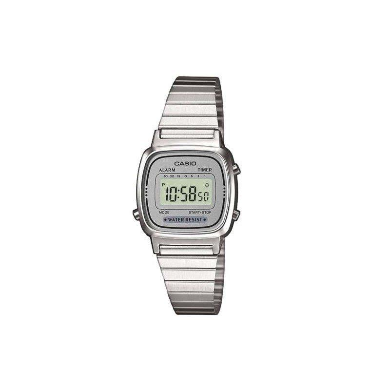 82540e39053 relógio casio vintage prata la670wa-7df. Carregando zoom.