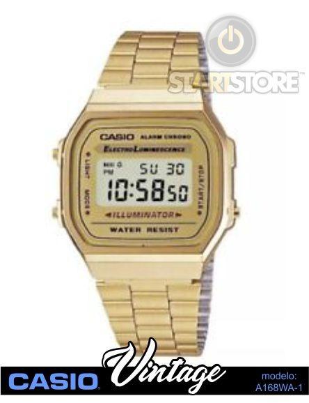 400117e39d5 Relógio Casio Vintage (retrô) Unissex Dourado Mod. A168wa-1 - R  79 ...