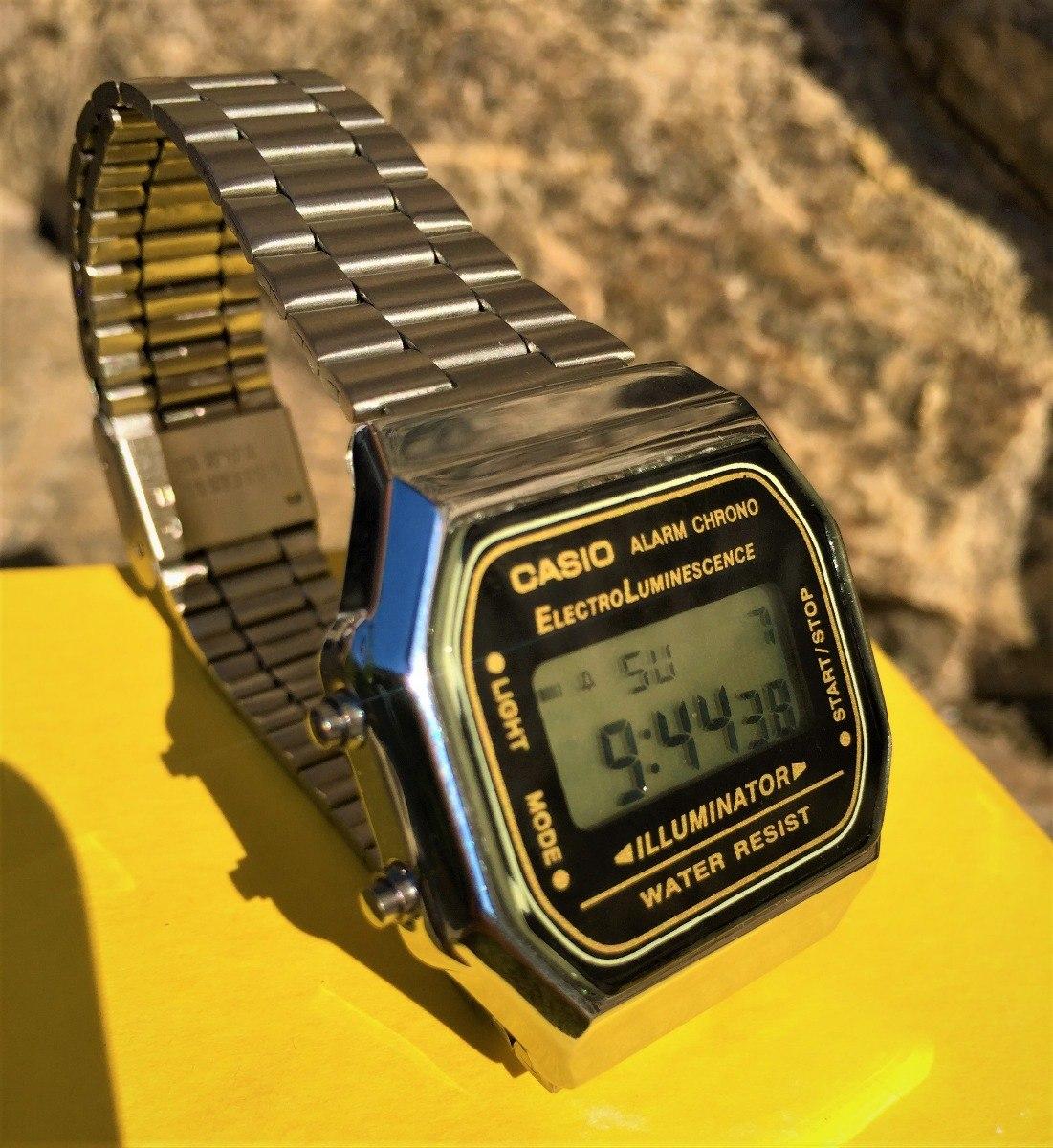 43a8d29d869 relógio casio vintage retro modelo a168 prata promoção. Carregando zoom.