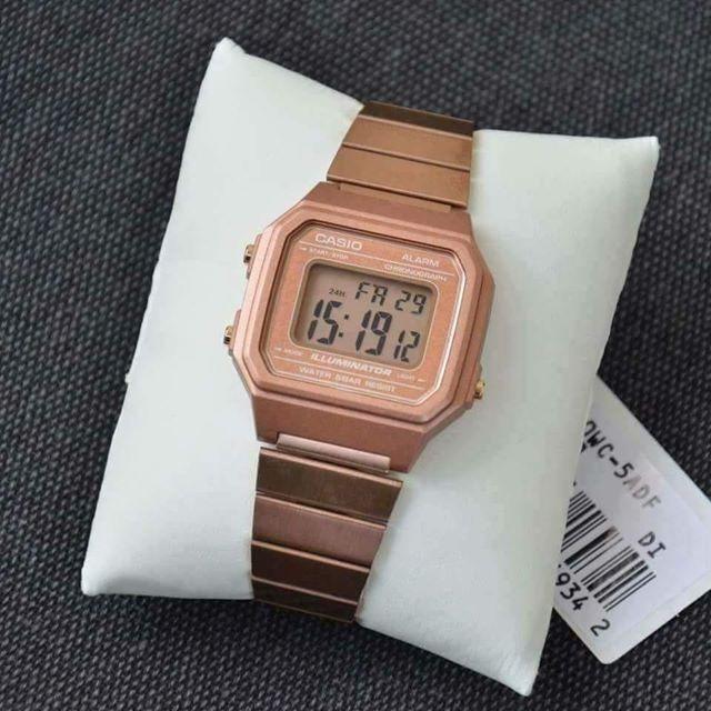 9381b5a7983 Relógio Casio Vintage Rose Digital Tamg B650wc 5adf Nota - R  349