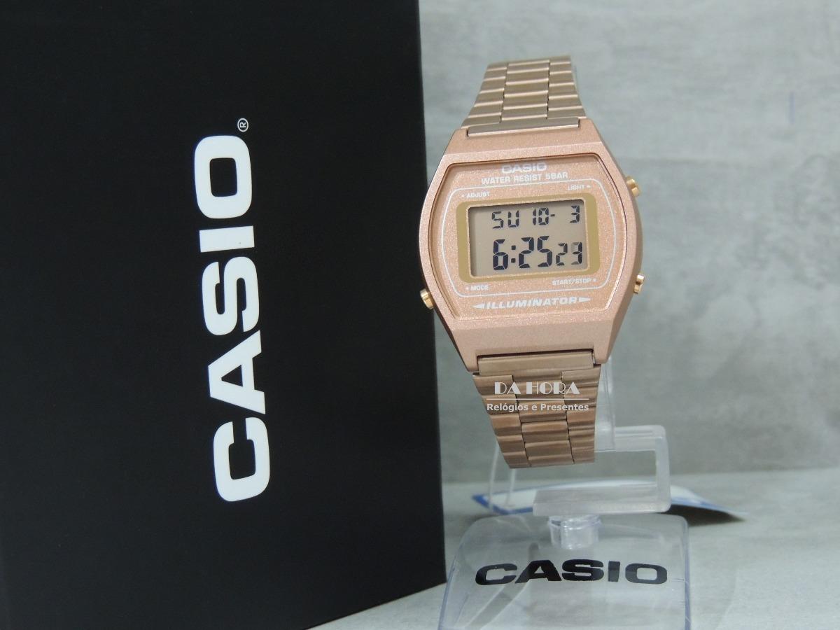 10f29bf734a relógio casio vintage rose gold b640wc-5adf (nf e garantia). Carregando  zoom.