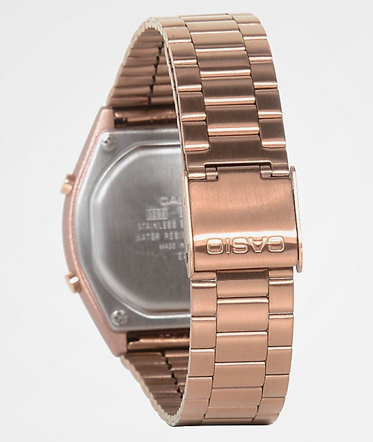 16684964d25d relógio casio vintage rose gold b640wc-5adf original