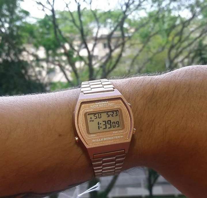 cc7d6bac9db Relógio Casio Vintage Rose Gold B640wc-5adf Original - R  319