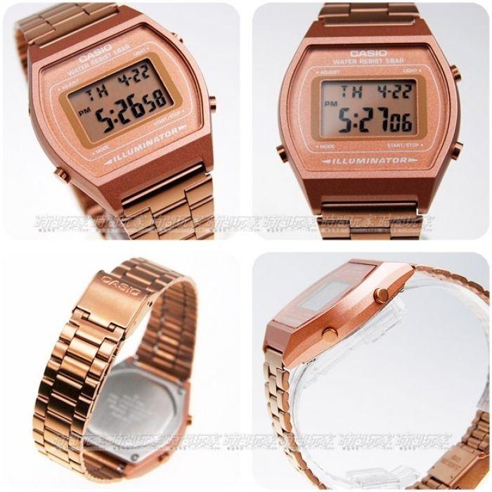 ef0d4da8fc09 Relógio Casio Vintage Rose Gold B640wc-5adf Original Nf Novo - R ...