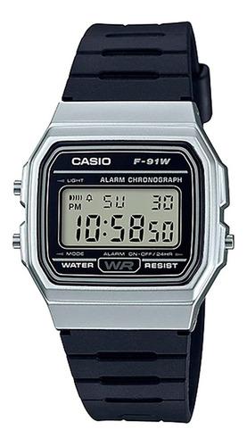relógio casio vintage unisex f-91wm-7adf