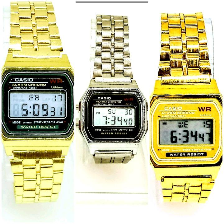 5126559b6c3 Relógio Casio Vintage Unisex Retro Pulseira De Aço Promoção - R  9 ...