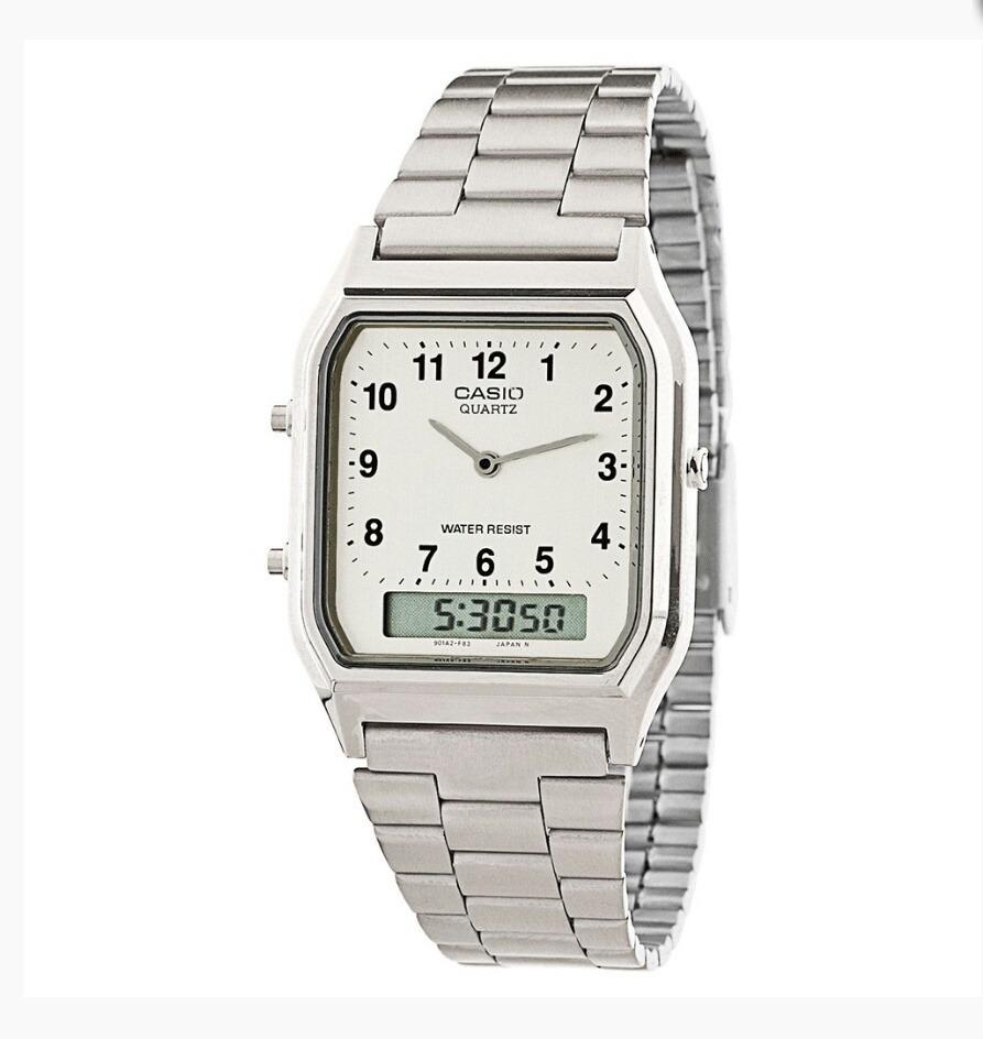 d3b9a977056 relógio casio vintage unissex aq-230a-7b original garantia. Carregando zoom.