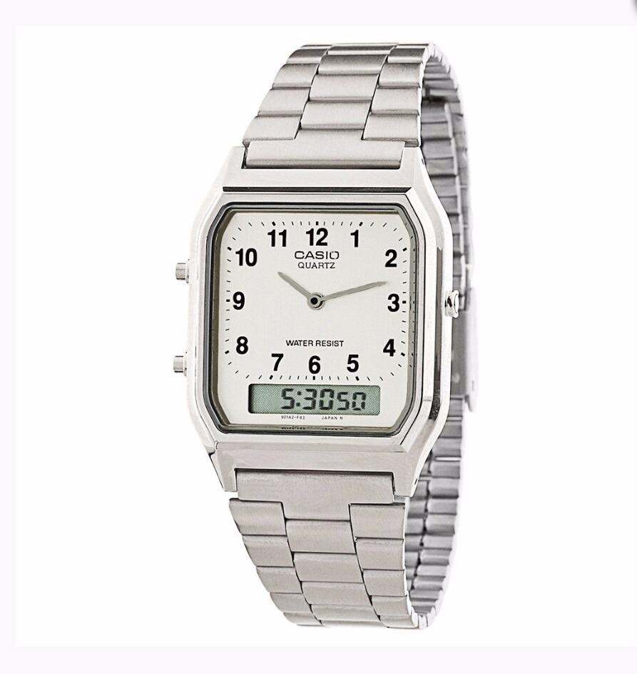 9af2ac5a07b Relógio Casio Vintage Unissex Aq-230a-7b Original + Nfe - R  219