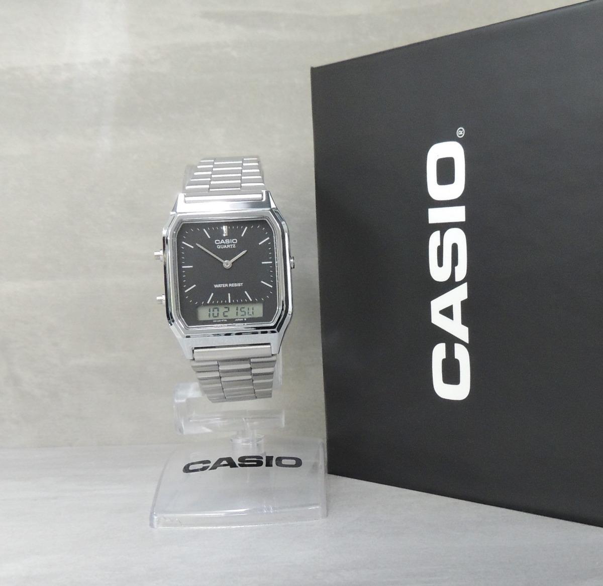 5e8dfbb4a9e Relógio Casio Vintage Unissex - Mod Aq-230a-1dmq Nf garantia - R ...