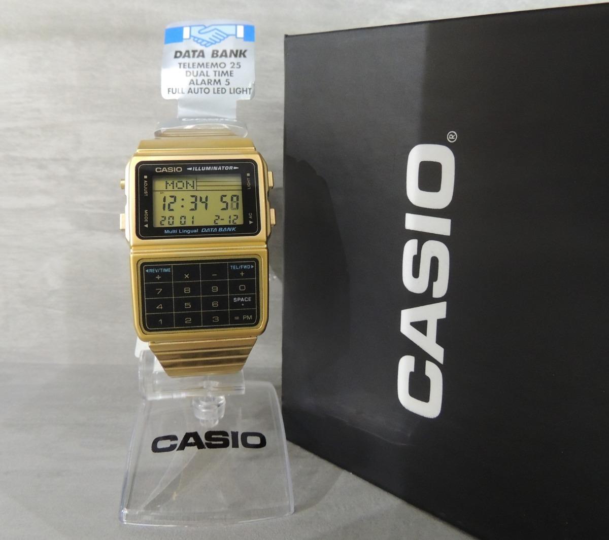 99bdccbc635 relógio casio vintage retrô data bank modelo dbc-611g-1df. Carregando zoom.