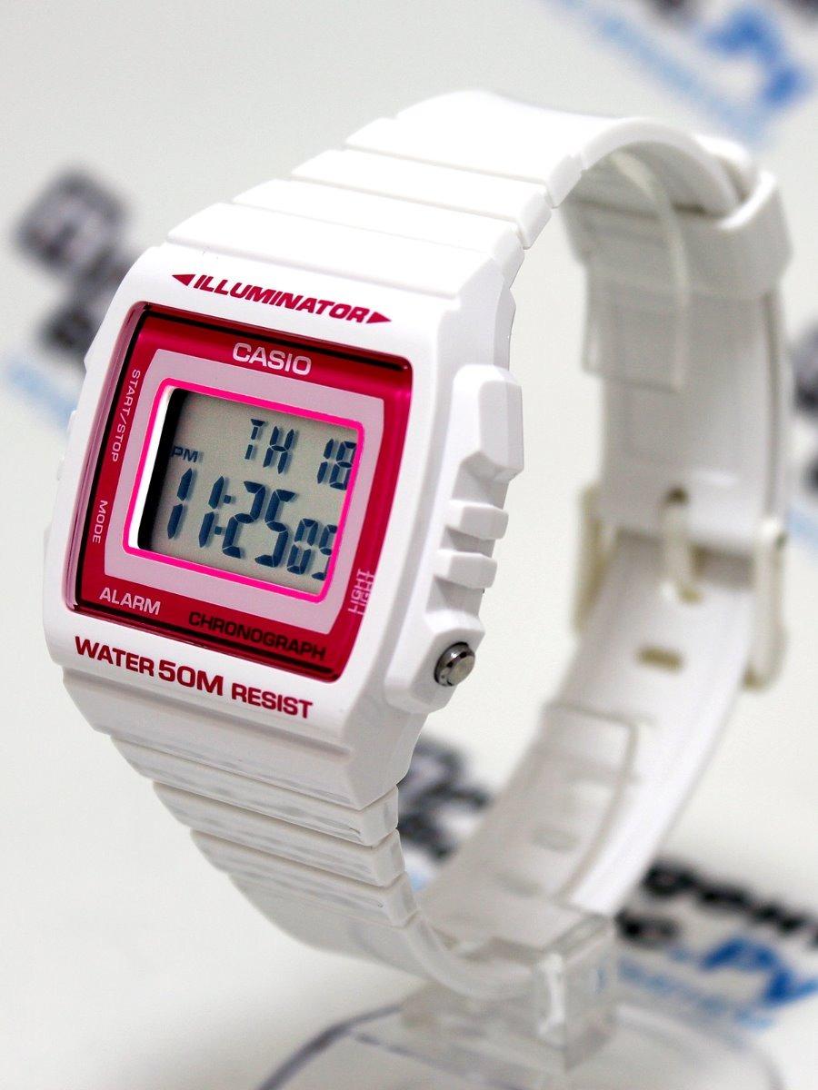 08a461b0bba relogio casio w-215-cores brilhante wr50m alarm crono luz. Carregando zoom.