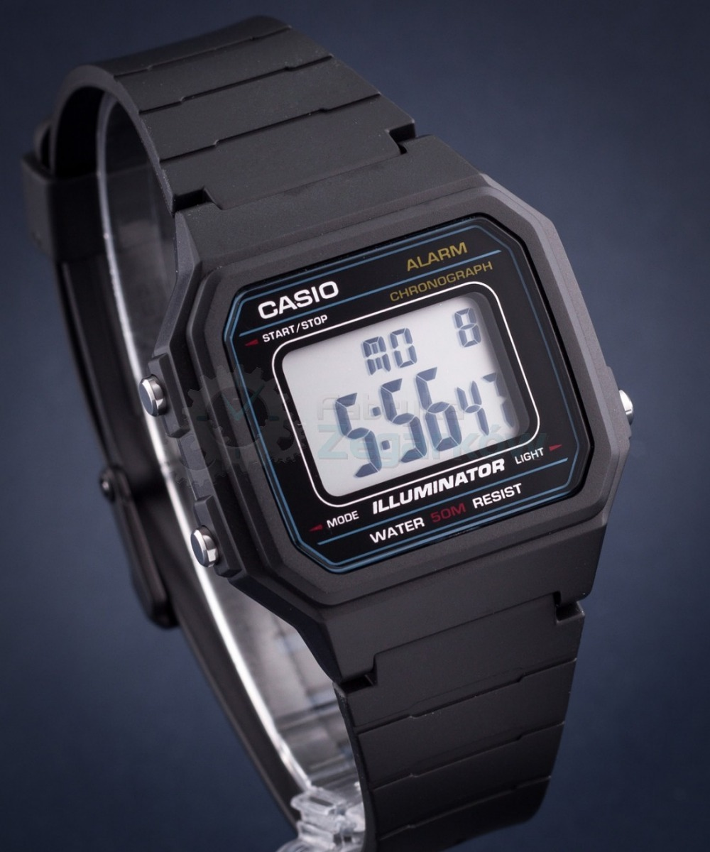 4481443a56b relogio casio w-217h-1 alarm crono data luz wr50m retro vint. Carregando  zoom.